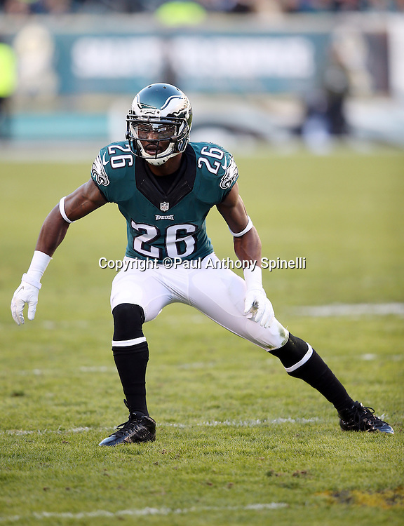 Philadelphia Eagles strong safety Walter Thurmond (26) chases the action during the 2015 week 10 regular season NFL football game against the Miami Dolphins on Sunday, Nov. 15, 2015 in Philadelphia. The Dolphins won the game 20-19. (©Paul Anthony Spinelli)