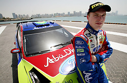 Finnish rally driver Jari Latvala at Zayed port Abu Dhabi. Photo By Andrew Parsons/i-images