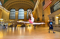 Anna Melo- Grand Central Station Ballerina. Dance As Art- The New York Photography Project