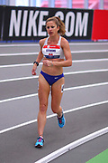 Robyn Stevens competes during the 3000 yard race walk during the USA Indoor Track and Field Championships in Staten Island, NY, Sunday, Feb 24, 2019. (Rich Graessle/Image of Sport)