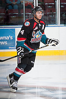 KELOWNA, CANADA - SEPTEMBER 28:  Madison Bowey #4 of the Kelowna Rockets skates on the ice against the Victoria Royals at the Kelowna Rockets on September 28, 2013 at Prospera Place in Kelowna, British Columbia, Canada (Photo by Marissa Baecker/Shoot the Breeze) *** Local Caption ***