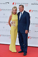 Camilla de Bourbon-Deux-Siciles (L) and Charles on the red carpet for the inauguration of the Monte-Carlo Film Festival of Television. Monte-Carlo, 13 june 2015, Monaco
