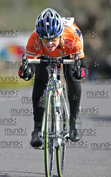(10 Jul 2011---Canberra, Australia) Jessica FIELD  competing in the Sunday morning road race in the DBR Australia 2011 Junior and Women's Canberra Tour at the Stromlo Forest Park circuit in Canberra, ACT. Copyright Sean Burges / Mundo Sport Images, 2011