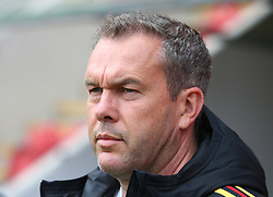 May 17, 2018 - United Kingdom - Thierry Siquet Head Coach of Belgium Under 17.during the UEFA Under-17 Championship Semi-Final match between Italy U17s against Belgium U17s at New York Stadium, Rotherham United FC, England on 17 May 2018. (Credit Image: © Kieran Galvin/NurPhoto via ZUMA Press)