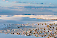 A lone tent enjoys solitude in the backcountry of White Sands National Monument, New Mexico.