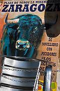 Zaragoza. Ilustración y Grafismo. Cartel corrida de toros. Taurino. 03-07-09. Julio E. Foster©