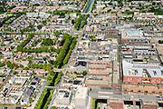 Nederland, Noord-Holland, Hoofddorp, 01-08-2016; centrum Hoofddorp, Hoofdvaart en Hoofdweg, kruising met Kruisweg.<br /> Hoofddorp, historical city centre.<br /> luchtfoto (toeslag op standard tarieven);<br /> aerial photo (additional fee required);<br /> copyright foto/photo Siebe Swart