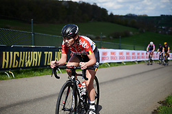 Puck Moonen (BEL) at Amstel Gold Race - Ladies Edition 2018, a 116.9 km road race from Maastricht to Berg en Terblijt on April 15, 2018. Photo by Sean Robinson/Velofocus.com