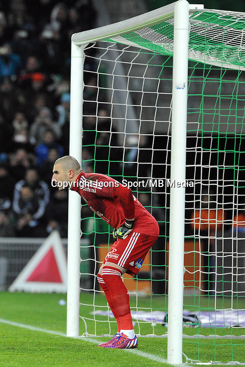 Penalty Stephane RUFFIER - 25.01.2015 - Saint Etienne / PSG  - 22eme journee de Ligue1<br />Photo : Jean Paul Thomas / Icon Sport