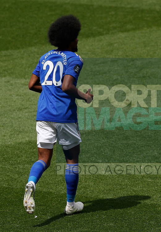 Hamza Choudhury of Leicester City during the Premier League match at Vicarage Road, Watford. Picture date: 20th June 2020. Picture credit should read: Darren Staples/Sportimage