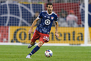 CHICAGO, IL - AUGUST 02: MLS All-Star and Montreal Impact Midfielder Ignacio Piatti (28) dribbles the ball in the second half during a soccer match between the MLS All-Stars and Real Madrid on August 02, 2017, at Soldier Field in Chicago, IL. The game ended in a 1-1 tie with Real Madrid winning on penalty kicks 4-2. (Photo By Daniel Bartel/Icon Sportswire)