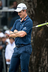 November 25, 2017 - Hong Kong, Hong Kong SAR, CHINA - HONG KONG SAR,CHINA: November 25,2017. Day 3 of the UBS Hong Kong Open Golf at Hong Kong Golf Club Fanling. Englands Justin Rose remains 5 under par 5 points behind the leader. Rose shows his disappointment following his final shot on the 18th green. (Credit Image: © Jayne Russell via ZUMA Wire)