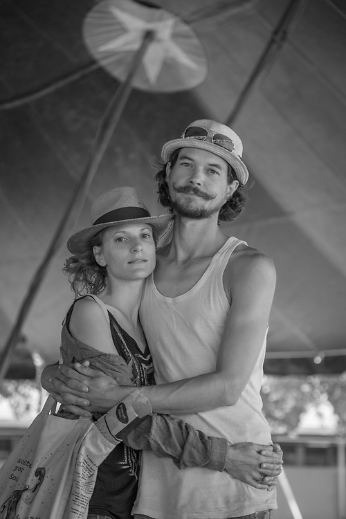 """We are stunned by the enthusiasm of the American people...they are very positive.  I think French people complain too much...forgetting what is great about France.""  -French jugglers Clementine and Bastian Stadler perform with the Flynn Creek Circus during their run in Calistoga."