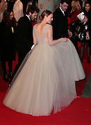 Feb 8, 2015 - EE British Academy Film Awards 2015 - Red Carpet Arrivals at Royal Opera House<br /> <br /> Pictured: Sam Claflin and Laura Haddock<br /> ©Exclusivepix Media
