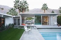 Palm Springs swimming pool and home exterior
