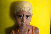 Young girl at the Dargah shrine. Nagore.