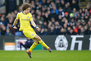 Chelsea defender David Luiz (30) makes a pass during the Premier League match between Crystal Palace and Chelsea at Selhurst Park, London, England on 30 December 2018.