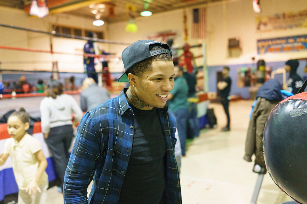 Baltimore, Maryland - January 26, 2017: IBF Junior Lightweight Champion Gervonta Davis at the Upton Boxing Club in Baltimore Thursday January 26, 2017.<br /> <br /> <br /> CREDIT: Matt Roth for The New York Times<br /> Assignment ID: