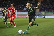 Forest Green Rovers Joseph Mills(23) during the EFL Sky Bet League 2 match between Leyton Orient and Forest Green Rovers at the Matchroom Stadium, London, England on 23 November 2019.
