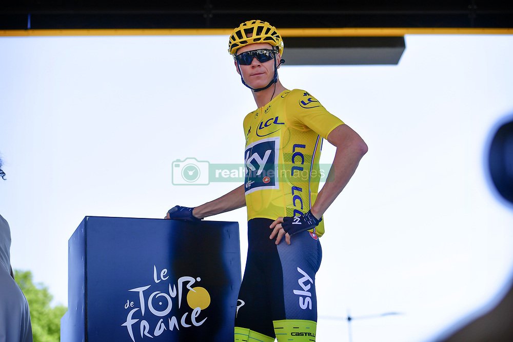 July 7, 2017 - Spielberg, France - FROOME Christopher (GBR) Rider of Team SKY in the yellow leader (Credit Image: © Panoramic via ZUMA Press)