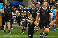 Josh McCrone of Toronto Wolfpack enters the field during the Betfred Super 8s Qualifiers match at Shay Stadium, Halifax<br /> Picture by Stephen Gaunt/Focus Images Ltd +447904 833202<br /> 12/08/2018