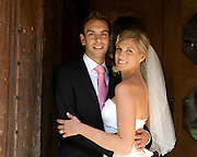 Bride & Groom portrait at Southwell Minster