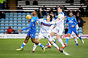 Peterborough Utd forward Ivan Toney (17) through on goal during the EFL Sky Bet League 1 match between Peterborough United and Rochdale at London Road, Peterborough, England on 12 January 2019.