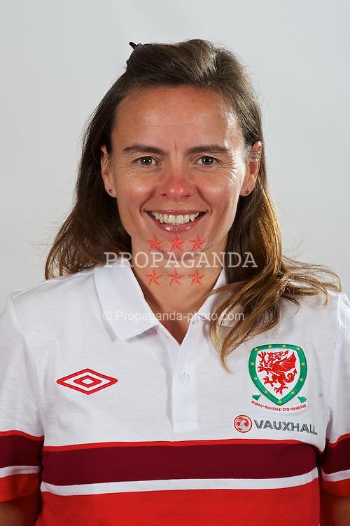 CARDIFF, WALES - Wednesday, September 12, 2012: Wales' physiotherapist Rachel Greenley. (Pic by David Rawcliffe/Propaganda)