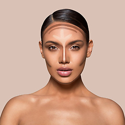 "Kim Kardashian releases a photo on Twitter with the following caption: """"The Crème Contour & Highlight Kit comes with 2 dual-ended sticks, one for contour and one for highlight. Use the dual-ended blending brush and sponge to blend into skin #KKWBEAUTY"""". Photo Credit: Twitter *** No USA Distribution *** For Editorial Use Only *** Not to be Published in Books or Photo Books ***  Please note: Fees charged by the agency are for the agency's services only, and do not, nor are they intended to, convey to the user any ownership of Copyright or License in the material. The agency does not claim any ownership including but not limited to Copyright or License in the attached material. By publishing this material you expressly agree to indemnify and to hold the agency and its directors, shareholders and employees harmless from any loss, claims, damages, demands, expenses (including legal fees), or any causes of action or allegation against the agency arising out of or connected in any way with publication of the material."