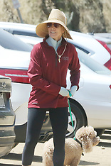 Felicity Huffman takes her dog hiking - 2 May 2019