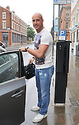 07.JULY.2011. LIVERPOOL<br /> <br /> LIVERPOOL FOOTBALL CLUB GOALKEEPER JOSE REINA LEAVES THE HOPE STREET HOTEL IN LIVERPOOL TO GO TO TRAINING AT ANFIELD, LIVERPOOL<br /> <br /> BYLINE: EDBIMAGEARCHIVE.COM<br /> <br /> *THIS IMAGE IS STRICTLY FOR UK NEWSPAPERS AND MAGAZINES ONLY*<br /> *FOR WORLD WIDE SALES AND WEB USE PLEASE CONTACT EDBIMAGEARCHIVE - 0208 954 5968*