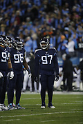 Tennessee Titans nose tackle Darius Kilgo (97) in action during the week 14 regular season NFL football game against the Jacksonville Jaguars on Thursday, Dec. 6, 2018 in Nashville, Tenn. The Titans won the game 30-9. (©Paul Anthony Spinelli)