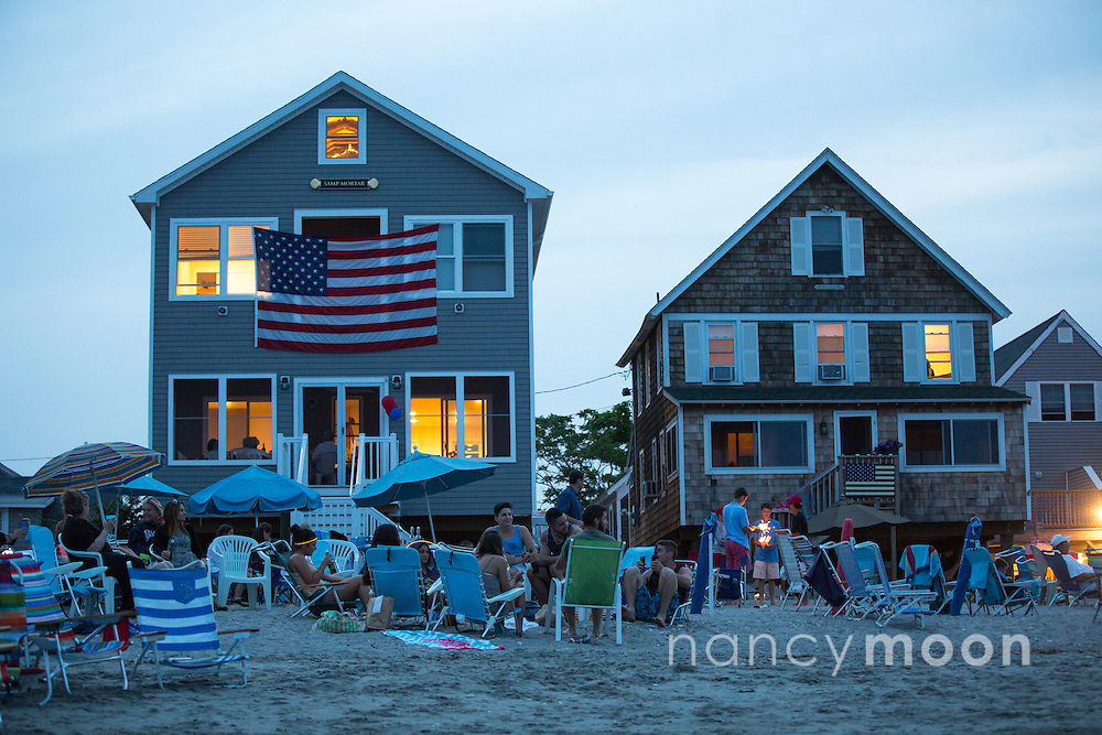 Party on the beach in Connecticut.<br />