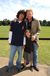 BORIS BECKER and his sons NOAH and ELIAS at the IWC Laureus Polo Cup Day 2008 held at Ham Polo Club, Surrey on 22nd June 2008.<br /><br />NON EXCLUSIVE - WORLD RIGHTS
