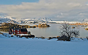 Gravdal at Vestvaagöy, Lofoten, Norway in February 2013.