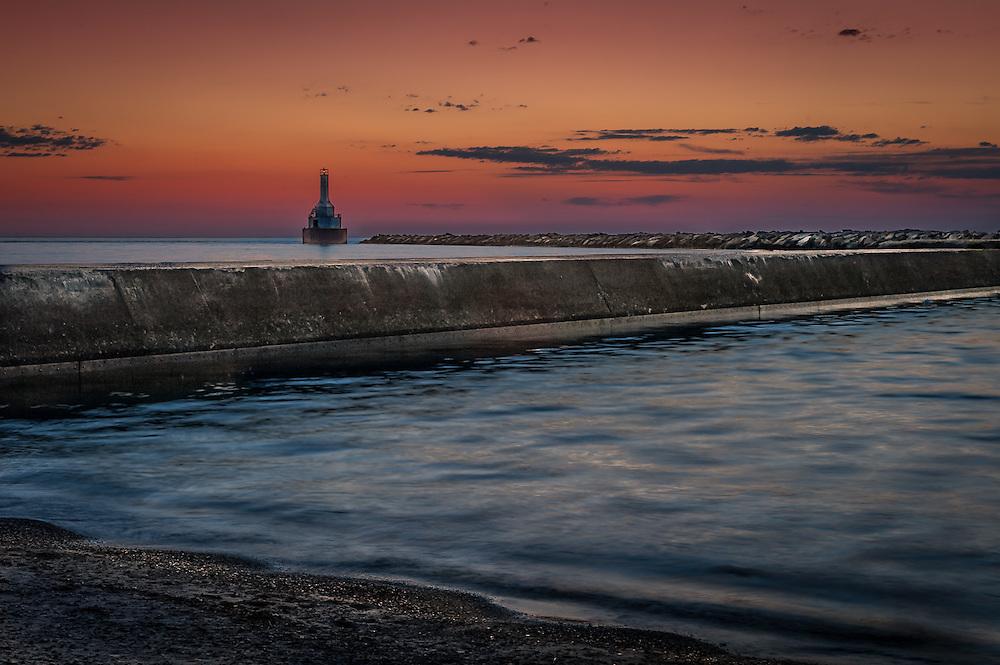 Keweenaw Waterway Upper Lighthouse, McClain State Park, Upper Peninsula, Michigan