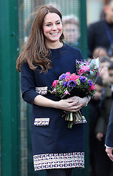 Catherine, Duchess of Cambridge leaving the Barlby Primary School in west London, UK. 15/01/2015<br />