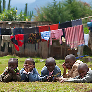 Flying Kites - Kenya