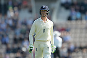 Keaton Jennings of England walks back to the Pavillion after being dismissed  during the first day of the 4th SpecSavers International Test Match 2018 match between England and India at the Ageas Bowl, Southampton, United Kingdom on 30 August 2018.
