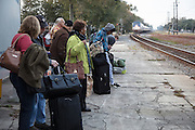waiting for the daily Amtrak Crescent train heading northeast out of Slidell, Louisiana