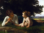 William Adolphe Bouguereau (1825-1905) Temptation (1880)