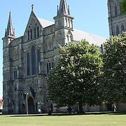 Salisbury cathedral, the largest medieval cathedral in England.