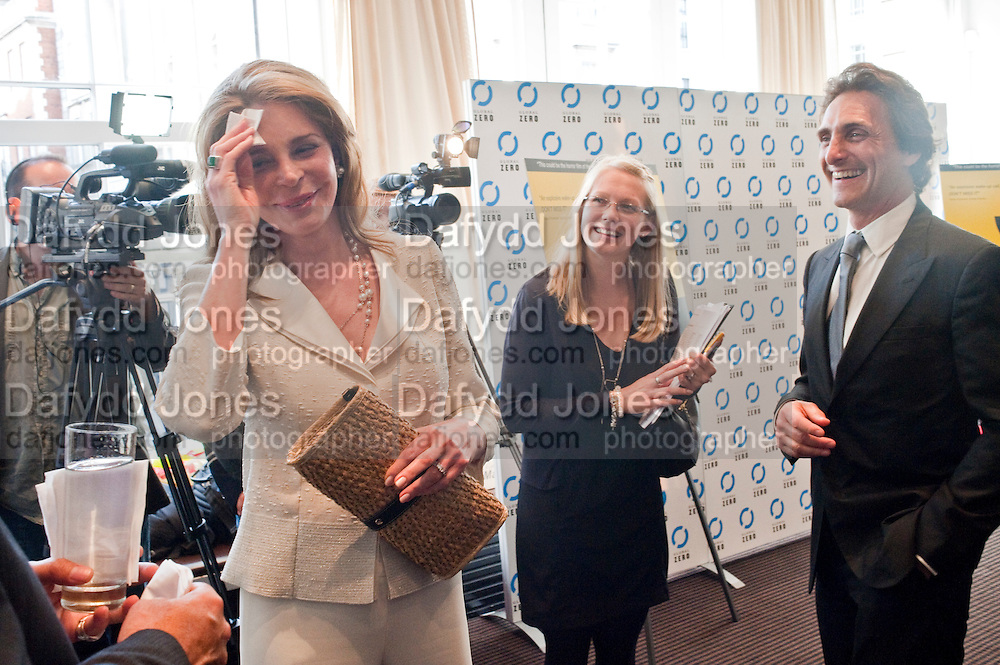 QUEEN NOOR OF JORDAN; LAWRENCE BENDER, Gala screening of COUNTDOWN TO ZERO, Bafta. Piccadilly. London. 21 June 2011. <br /> <br />  , -DO NOT ARCHIVE-© Copyright Photograph by Dafydd Jones. 248 Clapham Rd. London SW9 0PZ. Tel 0207 820 0771. www.dafjones.com.