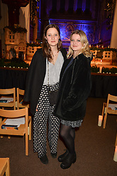 Left to right, ESME LANE FOX and TABITHA ELLIS at the charity Child Bereavement UK's 21st Anniversary Christmas Carol Concert held at Holy Trinity Brompton, London on 10th December 2015.