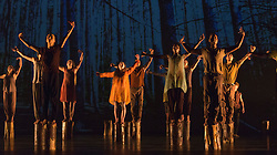 © Licensed to London News Pictures. 03/09/2015. London, UK. (in between) choregraphed by Jasmin Vardimon. 125 young dancers perform at the new annual Apex Rising Festival at Sadler's Wells organised by the National Youth Dance Company. Photo credit : Bettina Strenske/LNP