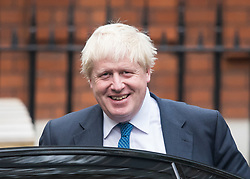 © Licensed to London News Pictures . 09/10/2017. London, UK.  British foreign secretary BORIS JOHNSON seen leaving his Westminster residence on October 9, 2017. Recent newspaper reports have suggested that Boris Johnson might be sacked as foreign secretary in a show of strength by British prime minister Theresa May.. Photo credit: Ben Cawthra/LNP