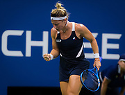 Paulien Parmentier of France in action during her first round match at the 2018 US Open Grand Slam tennis tournament, at Billie Jean King National Tennis Center in Flushing Meadow, New York, USA, August 28th 2018, Photo Rob Prange / SpainProSportsImages / DPPI / ProSportsImages / DPPI