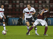 Dundee's Gary Harkins goes past Hearts' Callum Tapping - Hearts v Dundee in the Clydesdale Bank, Scottish Premier League at Tynecastle.. - © David Young - www.davidyoungphoto.co.uk - email: davidyoungphoto@gmail.com