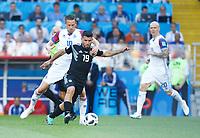 Gylfi Sigurdsson (Iceland) and Sergio Aguero(Argentina) <br /> Moscow 16-06-2018 Football FIFA World Cup Russia  2018 <br /> Argentina - Iceland / Argentina - Islanda<br /> Foto Matteo Ciambelli/Insidefoto