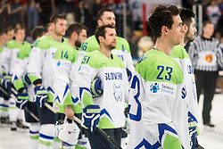 Luka Vidmar of Slovenia after the 2017 IIHF Men's World Championship group B Ice hockey match between National Teams of France and Slovenia, on May 15, 2017 in AccorHotels Arena in Paris, France. Photo by Vid Ponikvar / Sportida